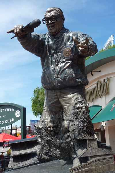 Statue de Harry Caray - photo de Jocelyn Richez