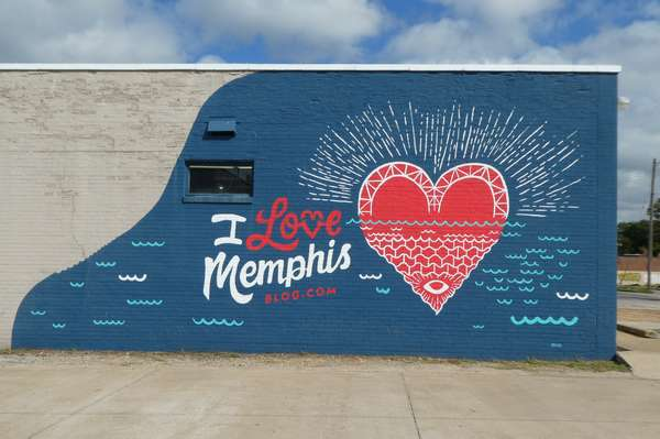 mur peint I love Memphis - photo de Jocelyn Richez