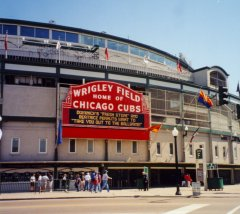 Wrigley field, home of Chicago Cubs