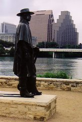 mémorial Stevie Ray Vaughan à Austin - photo de Jocelyn Richez